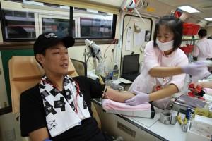 和泉だんじり大連合青年部の献血記事